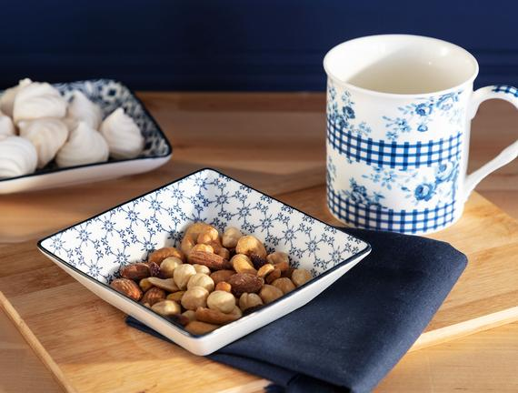 Rêve Bleu Gouttes New Bone China Kare Kase