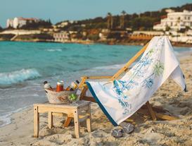 Darcy Baskılı Kadife Plaj Havlusu 75X150 cm