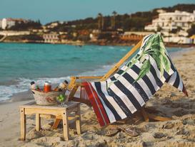 Prudence Baskılı Kadife Plaj Havlusu 75X150 cm