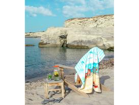 Damia Baskılı Kadife Plaj Havlusu 75X150 cm