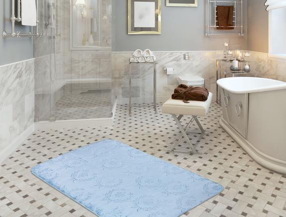 Quilt Banyo Halısı - İndigo