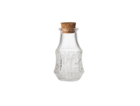 Mignon Mini Mantar Kapaklı Cam Şişe (4'lü)