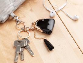 Çanta Figürlü Anahtarlık - Siyah