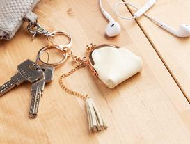 Çanta Figürlü Anahtarlık - Ekru