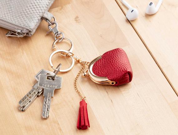 Çanta Figürlü Anahtarlık - Kırmızı