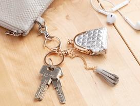 Çanta Figürlü Anahtarlık - Gümüş