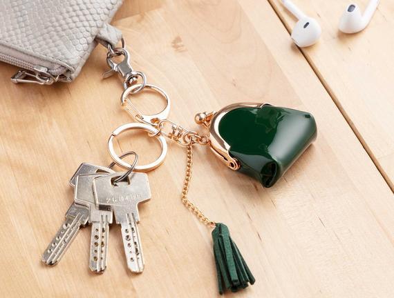 Çanta Figürlü Anahtarlık - Yeşil