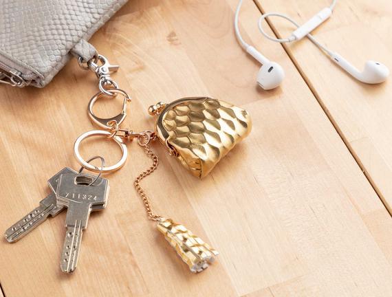 Çanta Figürlü Anahtarlık - Gold