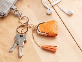 Çanta Figürlü Anahtarlık - Turuncu