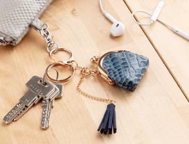 Çanta Figürlü Anahtarlık - Mavi