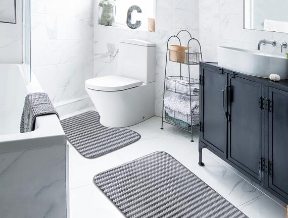 Banyo Paspas Takımı - Antrasit
