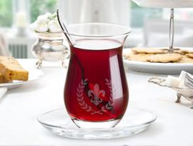 Fleur De Lys 6'lı Çay Bardağı