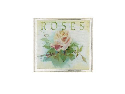 Roses Kare Bardak Altlığı - Yeşil
