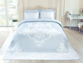 Le Chalet King Size Yatak Örtüsü - Açık Mavi