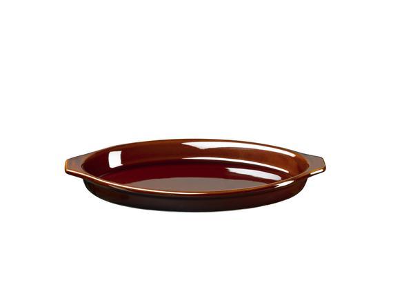 Terre Seramik Oval Tava - 21 cm