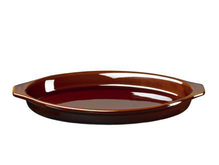 Terre Seramik Oval Fırın Kabı - 27 cm