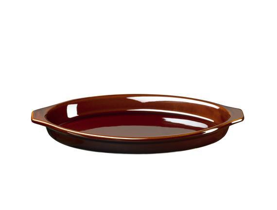 Terre Seramik Oval Fırın Kabı - 24 cm