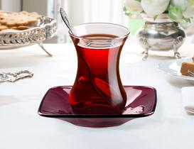 Vallée Renkli Çay Tabağı 6'lı