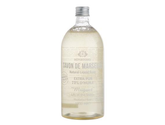 RÉPERTOIRE  Sıvı Sabun Refill (Ekonomik Şişe) - Savon de Marseille (Zeytinyağlı) 1000 ml Muguet (Müge Çiçeği)
