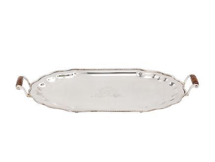 Carline Oval Tepsi - Gümüş - 31x18 cm