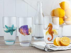 Sea World 3'lü Su Bardağı