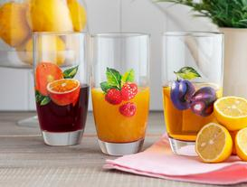 Winter Fruits 3-Piece Water Glass