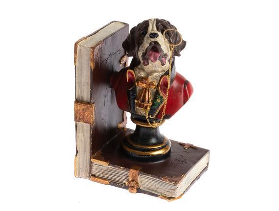 2'li Köpek Kitap Tutucu - Toprak