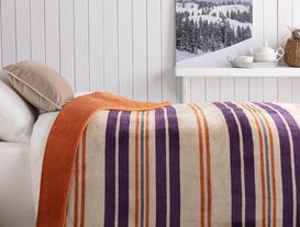 Pamuklu Çizgili Çift Kişilik Battaniye 200x220 cm