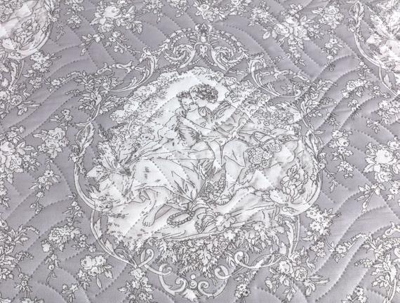 Romance Çok Amaçlı Yatak Örtüsü - Pudra / Gri
