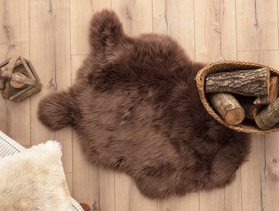 Plush Rug - Brown