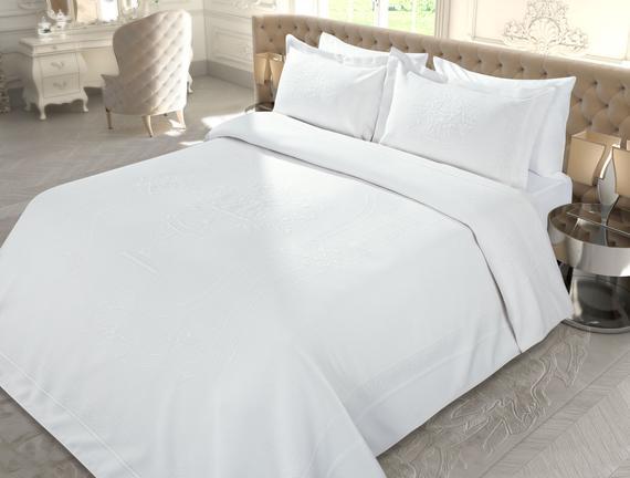 La Belle Epoque 2 Tek Kişilik Örme Yatak Örtüsü 160x240+60x80cm