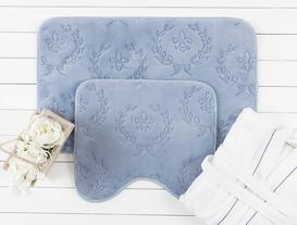 Quilt Banyo Paspas Takımı - İndigo