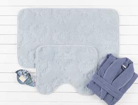 Quilt Banyo Halı Takımı - Açık Mavi
