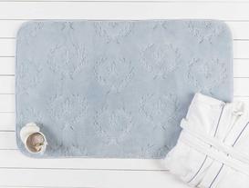 Fleur De Lys Desenli Banyo Paspası - Mavi