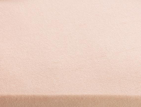 Tek Kişilik Lastikli Havlu Çarşaf - Pudra