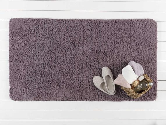 Sheep Banyo Paspası - Koyu Mürdüm - 80x140 cm