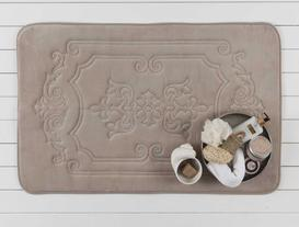 Flannel Desenli Banyo Paspası - Taş