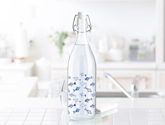 Fish Su Şişesi - Mavi / 1000 ml