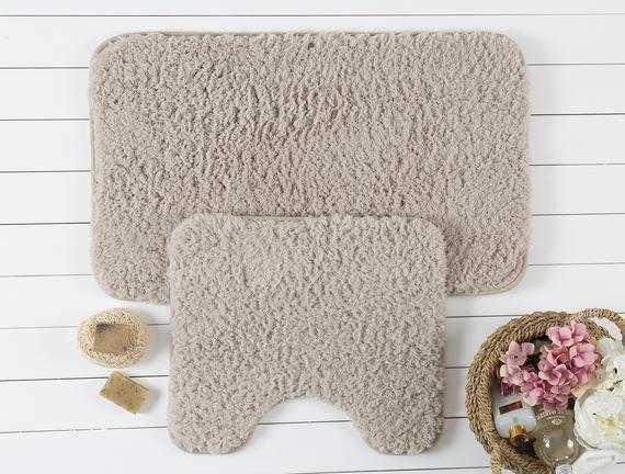 Sheep Banyo Paspas Takımı - Taş