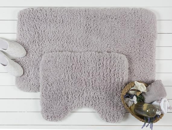 Sheep Bath Mat Set-Plum