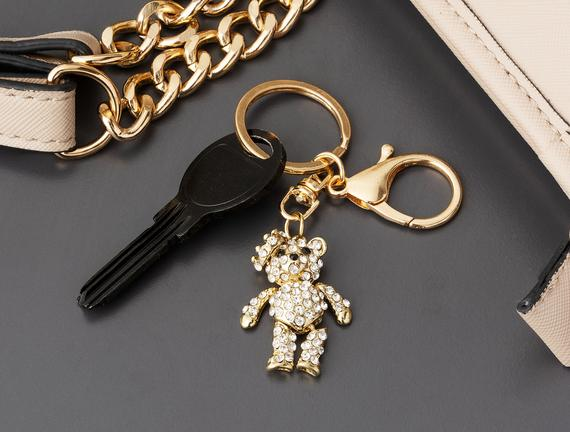 Ayıcık Figürlü Anahtarlık - Gold