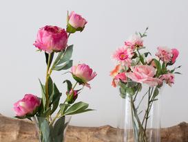 La Bambola Peony Bouquet - Dark Pink