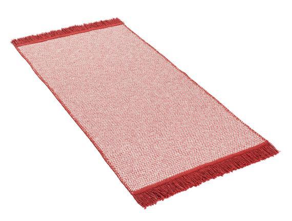 Ninette Saçaklı Dokuma Kilim - Kırmızı - 60x100 cm