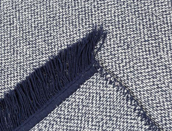 Ninette Saçaklı Dokuma Kilim - Lacivert - 60x100 cm