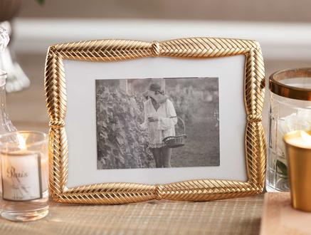 Traquet Fotoğraf Çerçevesi - Gold