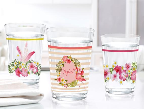 Flamingo 3'lü Su Bardağı Seti - Pembe 250 ml