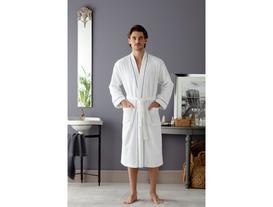 Clair Kimono Ara Biyeli Erkek Bornoz - Beyaz / Indigo