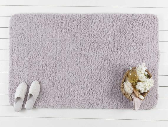 Sheep Banyo Paspası - Mürdüm - 80x140 cm