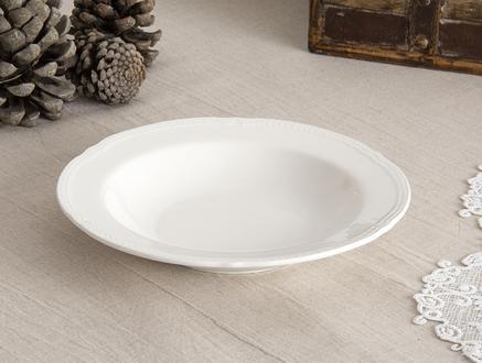 Bondir New Bone China Yemek Tabağı