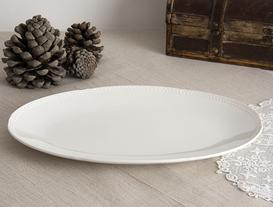 Spring New Bone China Oval Plate